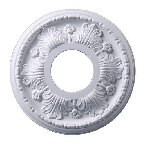 Acanthus Lamp (Elk M1000WH Acanthus Ceiling Medallion, 11-Inch, White Finish)