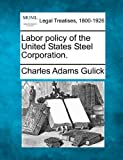 img - for Labor policy of the United States Steel Corporation. book / textbook / text book