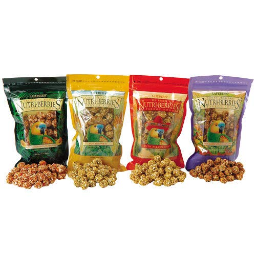 LAFEBER'S Flavored Nutri-Berries - Parrot Variety Pack 4, 3 lbs each