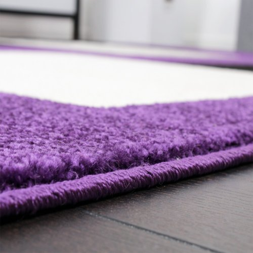 Paco Home Tapis De Créateur à Motif à Carreaux En Violet Noir Blanc,  Dimension:120x170 Cm: Amazon.fr: Cuisine U0026 Maison