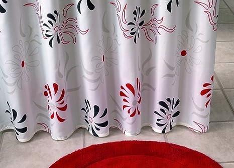 Tende In Tessuto Per Doccia : Tenda per doccia in tessuto motivo decorazioni fiori colore
