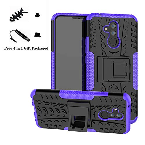 Mate 20 Lite case,LiuShan Shockproof Heavy Duty Combo Hybrid Rugged Dual Layer Grip with Kickstand for Huawei Mate 20 Lite Smartphone (with 4in1 ()