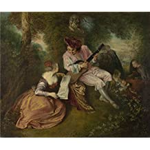 'Jean Antoine Watteau The Scale of Love ' oil painting, 20 x 24 inch / 51 x 61 cm ,printed on Perfect effect canvas ,this Beautiful Art Decorative Canvas Prints is perfectly suitalbe for Basement artwork and Home decor and Gifts