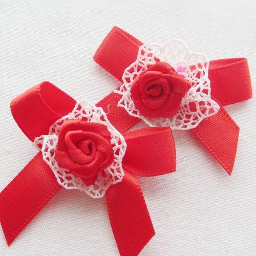 Chenkou - fiocchi con rose, appliques da decorazione per matrimonio - DIY 40 pezzi Coffee Juqian Maoyi