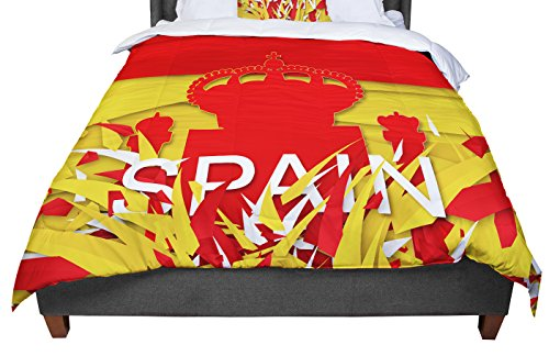 KESS InHouse Danny Ivan ''Spain'' World Cup King / Cal King Comforter, 104'' X 88'' by Kess InHouse
