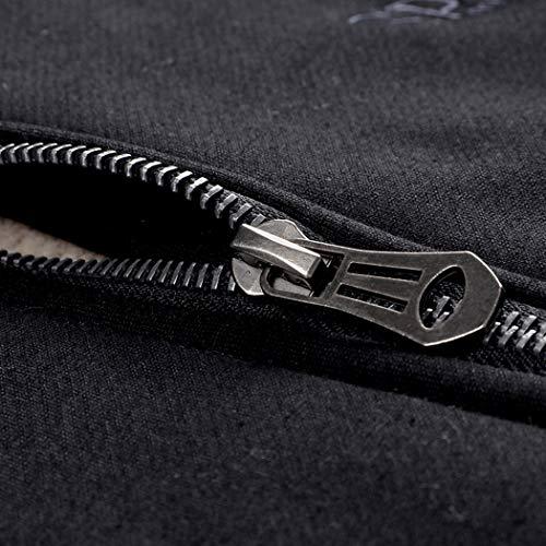 Real Spark Men's Winter Fleece Hoodie Jacket & Jog Pants Set Casual Running Tracksuit Black XS by Real Spark (Image #3)
