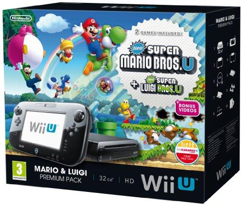 Nintendo Wii U Black Premium Pack (32GB) + New Super Mario Bros.U + New Super Luigi U by Nintendo