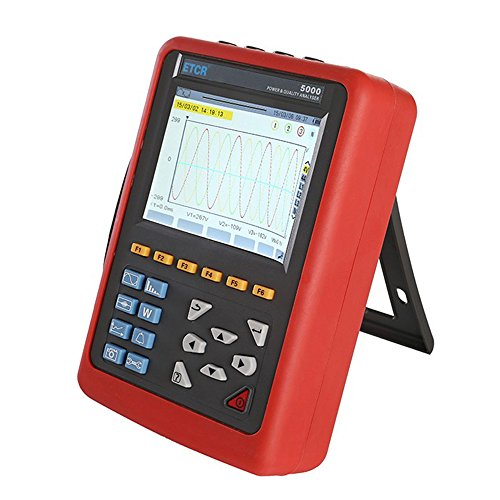 ETCR5000 Power Quality Analyzer Meter Power Analyzer Three Phase Power Quality and Energy Analyzer Multi-Functional Operation with Optional Current Sensor Model 040B Range AC 0.1A~100A