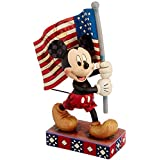 Enesco Disney Traditions by Jim Shore Mickey Mouse with Flag Figurine, 6.875-Inch