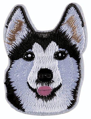 RoseSummer Husky Dog Pattern Embroidered Applique Bag Hat Dress DIY Patches - Applique Patterns Dog