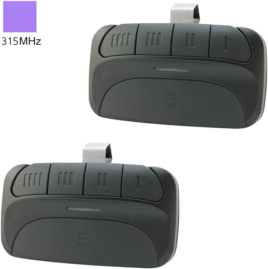 Garage Door Opener Remote Replacement for 371LM 372LM 373LM Liftmaster Chamberlain Sears Craftsman with Purple Learn Button - 2 Pack