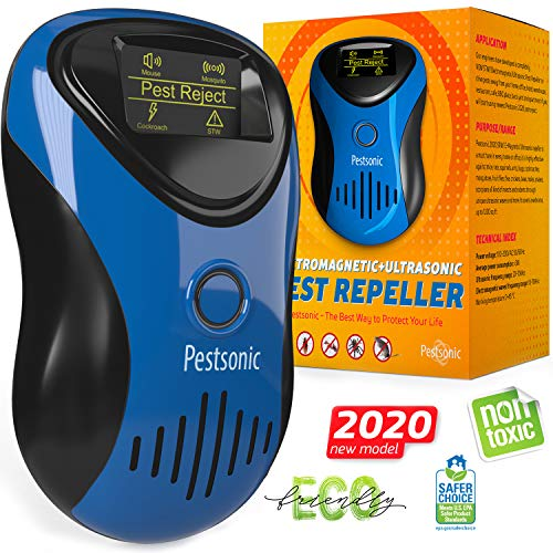 Ultrasonic Pest Repeller Plug in - Outdoor/Indoor Electronic Pest Repellent - Get Rid of Rat Mouse Squirrel Bug Bee Cockroach Fly Spider Mosquito - Safe for Pet