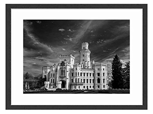 Tcrying Castle - Art Print Wall Black Wood Grain Wall Art Picture 20x14 Inches Framed price