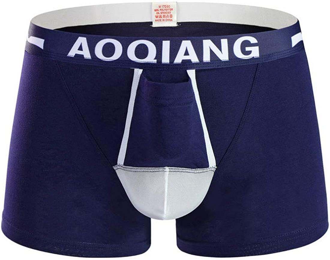 AOQIANG Mens Underwear Cotton Mesh Splicing Separate Pouch Boxer Trunks Underoots