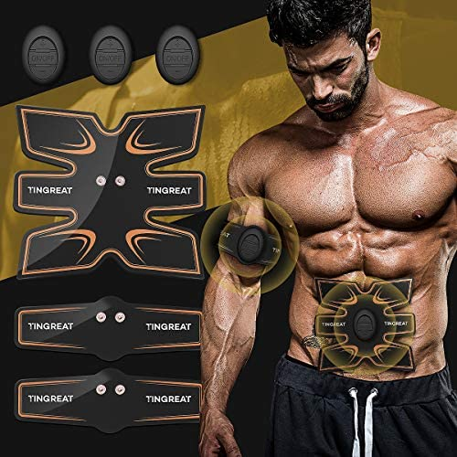 Abs Stimulator Muscle Toner Abdominal Toning Belt EMS ABS Toner Body With 11 modes 25 intensities Ab Muscle Trainer Wireless Portable Unisex Fitness for Abdomen Arm Leg Training Home Office Exercise