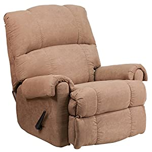 3. Flash Furniture Contemporary Victory Lane Taupe Fabric Rocker Recliner