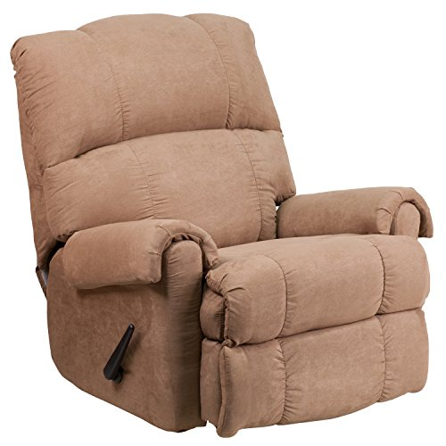 Lane Fabric (Flash Furniture Contemporary Victory Lane Taupe Fabric Rocker Recliner)