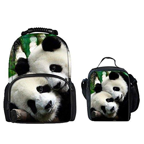 Softback Backpack panda Fashion set School Head Tiger Bags with Animal Showudesigns xg8qfwI4w
