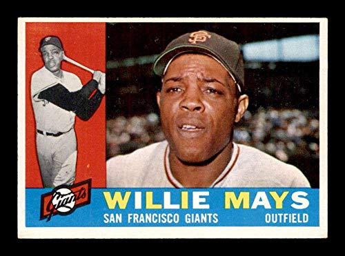 #200 Willie Mays HOF - 1960 Topps Baseball Cards Graded EXMT - Baseball Slabbed Autographed Vintage Cards