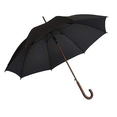 f8584b41d8a4a SoulRain Classic Stick Umbrella Windproof Auto Open Large Umbrella Wood  Hook Handle Unbreakable Black Rain Umbrella