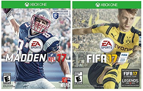 51PAxLul3qL - Xbox One 2 Sports Game: NFL 17 & FIFA 17 Play on Xbox One, Xbox One S, Xbox One X Project Scorpio Edition
