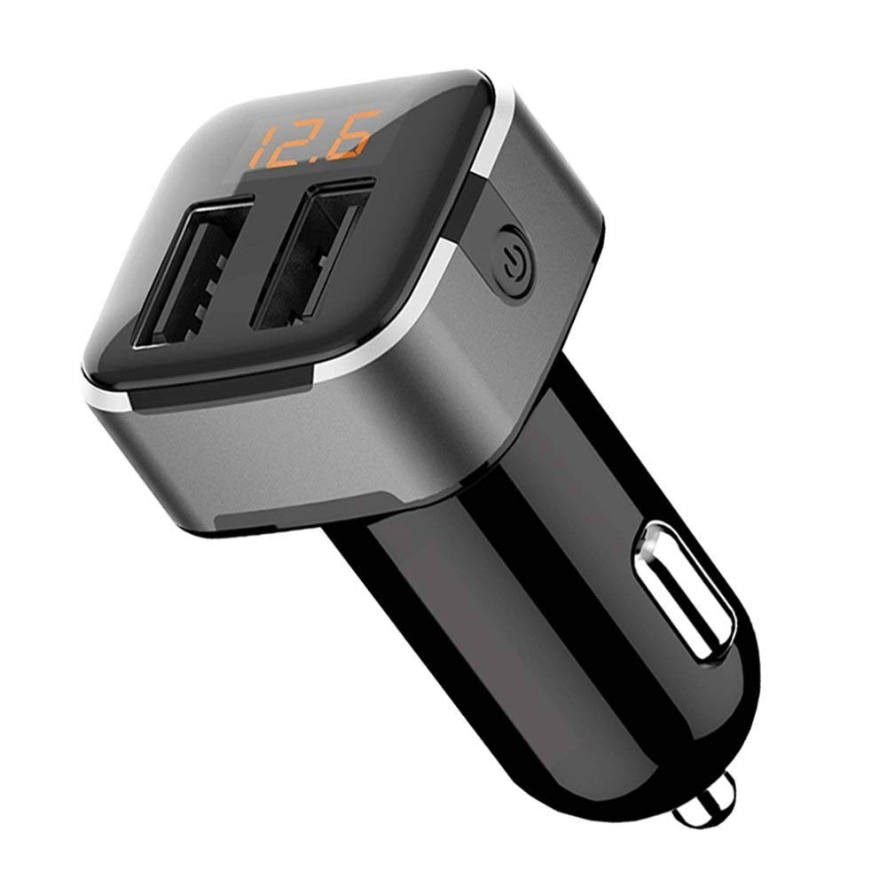Car charger USB Car Adapter, One for Two Cigarette Lighter Plug USB Multi-Function Mobile Phone Fast Charge Universal Voltage Detection Safe and Reliable