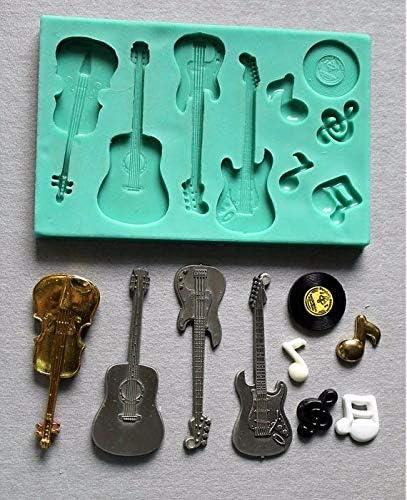 Molde de silicona para guitarra acústica, violín de guitarra ...