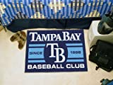 Tampa Bay Devil Rays Baseball Club Starter Rug 19x30 - Licensed Tampa Bay Rays Gifts