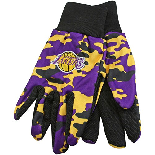 - NBA Los Angeles Lakers Team Logo Camouflage Utility Work Glove