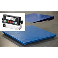 Heavy Duty Floor Scale 48X48 Platform 5000 lb X 1 lb with PS-IN202 LCD Indicator / 1 Ramp,New