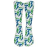 ZOZGETU Sierra Leone Flag Mode Crew Socks Crew socks Crazy socks for youth boys girls 3D Print Thin and light (Long 50cm