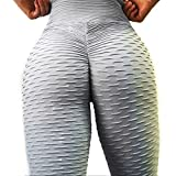 SEASUM Women's High Waist Yoga Pants Tummy Control Slimming Booty Leggings Workout Running Butt Lift Tights S