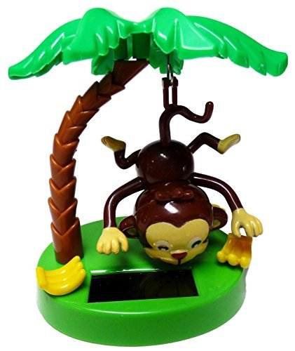 GB Solar Powered Swinging Monkey Hanging by Tail