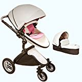 Baby Stroller 2017, Hot Mom 3 in 1 travel system Baby Carriage with Bassinet Combo,Black