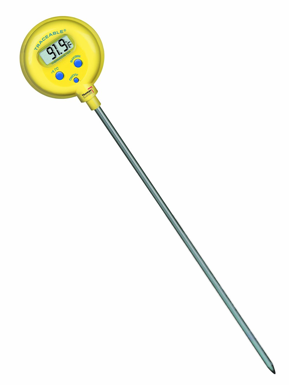 Thomas Traceable Ultra Lollipop Shockproof/Waterproof Thermometer, 8'' Stem, -58 to 572 degree F