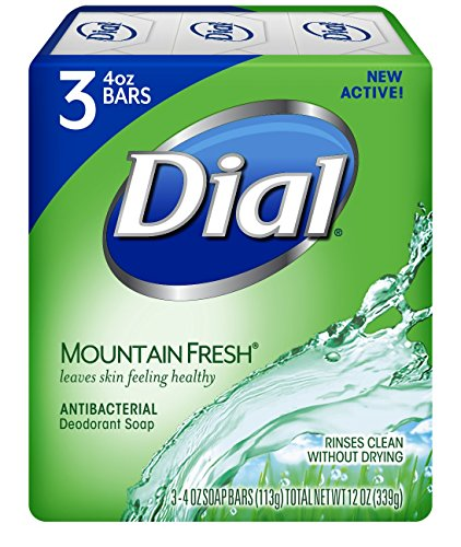 Fresh Deodorant Deodorant Bar Soap - Dial Antibacterial Deodorant Soap, Mountain Fresh, 4 Ounce, 9 Bars