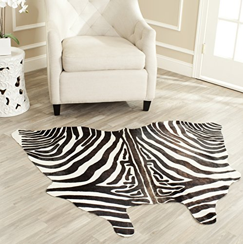 Safavieh Cow Hide Collection COH213A Handpicked Argentinian Cowhide White and Black Area Rug (4'6
