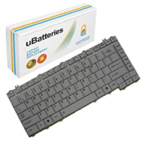 UBatteries Laptop Keyboard Toshiba Satellite L300D-245 (Silver)
