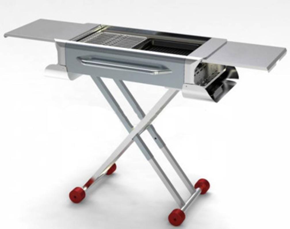 XW oft Edelstahl Grill-Zubehör Outdoor tragbar klappbar pull-griglia st-x6-001 (a) grilled net + pan pan