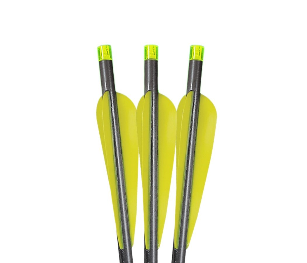 Lumenok 20-Inch Excalibur Firebolt Equipped with Flat Bolt End (3-Pack),Colors May Vary