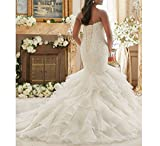 Fannybrides Sweetheart Mermaid Bridal Gown Plus Size Wedding Dresses for Bride 2018