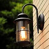 Edge To Wall lamp Modern Simple American Country Industrial Outdoor Wall Lamp Waterproof Villa Garden Wall Lamp Balcony Corridor Iron Wall Lamp