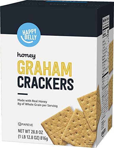 Amazon Brand - Happy Belly Honey Graham Crackers, 28.8 oz