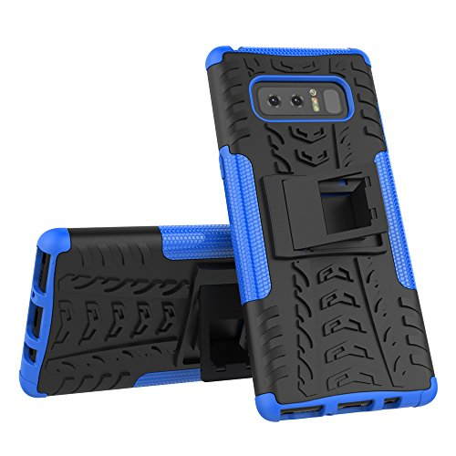 AOKER Galaxy Note 8 Case, Kickstand] [New] [Fashion] [Shockproof] [Impact Protection] Heavy Duty Dual Layer Hybrid Defender Protective Case with Kickstand Cover for Samsung Galaxy Note 8 (Blue)