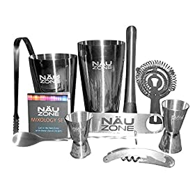 NÄUZone Boston Shaker Barware Set with Bar Kit Su...