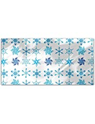 Snowflake Collection Rectangle Tablecloth Large Dining Room Kitchen Woven Polyester Custom Print