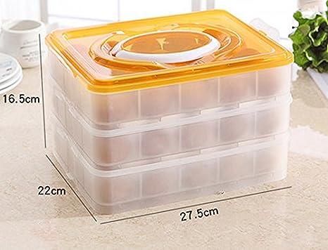 LYTSM Caja de Huevos de Fresa Refrigerador refrigerado Caja de Almacenamiento Plástico de Acabado Bandeja de