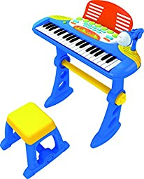 CHILDRENS TOY ELECTRONIC KEYBOARD With 37 Keys (BLUE)