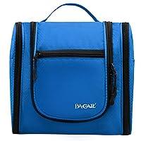 Bagail Large Men & Women Toiletry Bag For Makeup, Cosmetic, Shaving, Travel Accessories, Personal Items - Hanging Toiletries Kit Makeup Organizer Blue