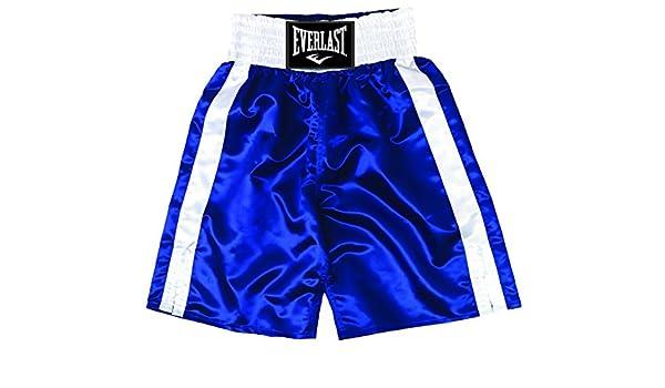 Blue//White Everlast Standard Bottom of Knee Boxing Trunks